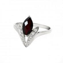 Prsten stříbrný, granát
