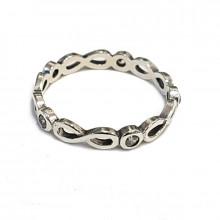Silver ring, zircon