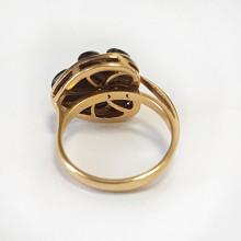 Prsten zlatý,  granát
