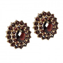 Gold, garnet - classical design, large