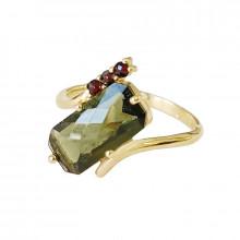 Zlatý prsten, vltavín, granáty