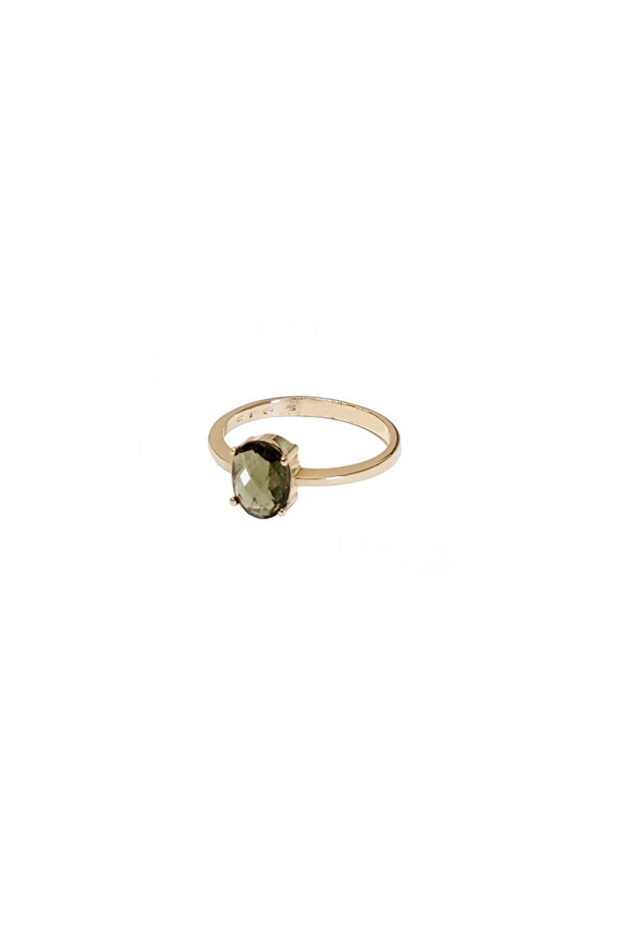 Кольцо золотое,  влтавин