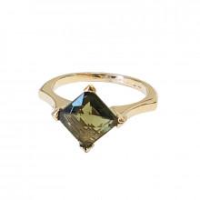 Gold, moldavite