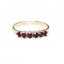 Zlatý prsten s granáty